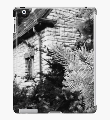 Black and White of a Small House  iPad Case/Skin