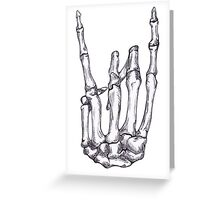 Rock On Skeleton Hand  Greeting Card