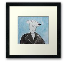 Smoking Weasel Framed Print