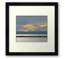 A Mellow Sunset Over Inch Island..................................Ireland Framed Print