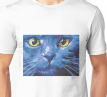 Russian Blue Cat Bright colorful pop kitty art Unisex T-Shirt