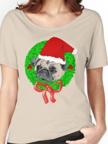 Christmas Pug Women's Relaxed Fit T-Shirt