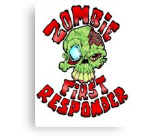 Zombie First Responder Volunteer Canvas Print