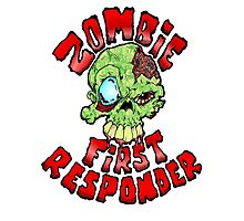 Zombie First Responder Volunteer Photographic Print