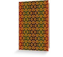Vintage Victorian Pattern in Red, Gold and Green Greeting Card