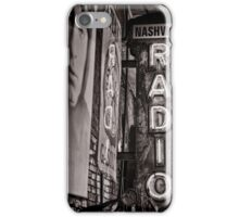 Radio Nashville - monochrome iPhone Case/Skin