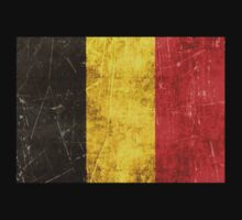 Vintage Aged and Scratched Belgian Flag One Piece - Long Sleeve