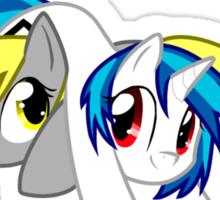 Derpy Hooves and Vinyl Scratch Sticker