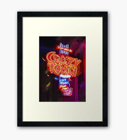 Crazy Town - Impressionistic Framed Print