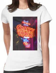 Crazy Town - Impressionistic Womens Fitted T-Shirt