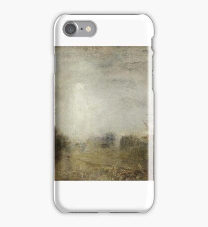 Joseph Mallord William Turner    Whalers (Boiling Blubber) Entangled in Flaw Ice, Endeavouring to Extricate Themselves iPhone Case/Skin