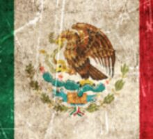 Vintage Aged and Scratched Mexican Flag Sticker