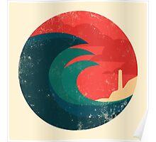The wild ocean Poster
