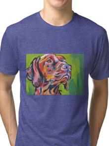 Vizsla Dog Bright colorful pop dog art Tri-blend T-Shirt