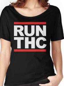 RUN THC (Parody) White Ink Women's Relaxed Fit T-Shirt