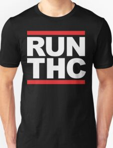 RUN THC (Parody) White Ink T-Shirt