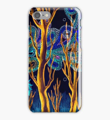 Spiritual Forest Neon Colours iPhone Case/Skin