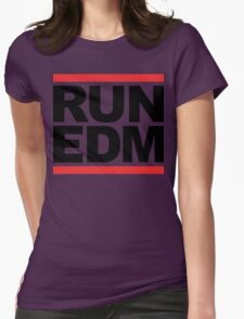 RUN EDM (Parody) Womens Fitted T-Shirt