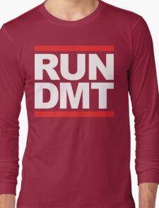 RUN DMT (Parody) White Ink Long Sleeve T-Shirt