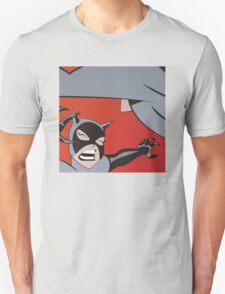 Cat and Bat Fight Halftone T-Shirt