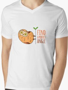 Owl wisdom. Find a perfect angle. T-Shirt