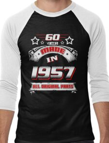 made in 1957 Men's Baseball ¾ T-Shirt