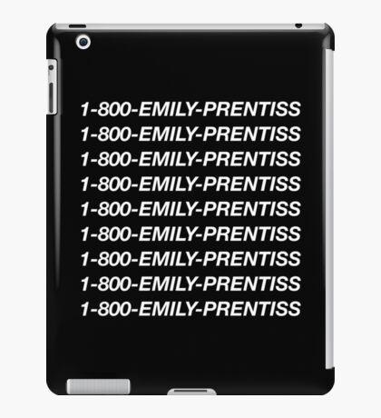 1-800-Emily-Prentiss (Black) iPad Case/Skin