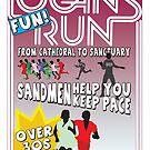 Logan's Fun Run - Parody Poster - Funny Reference to Classic Scifi Film by Kelmo