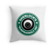 Sherlock's Coffee - Surprisingly OK! Throw Pillow