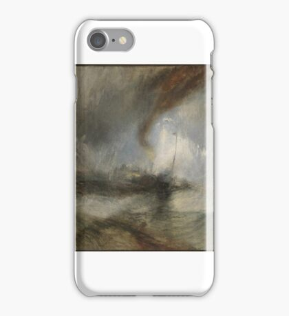 Joseph Mallord William Turner, Snow Storm - Steam-Boat off a Harbour's Mouth exhibited  iPhone Case/Skin