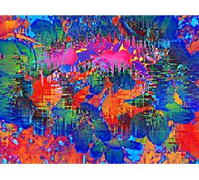 Almost Floral - Modern Colorful Floral Abstract Photographic Print