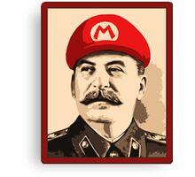 Stalin is Mario Canvas Print
