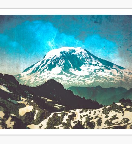 Mt. Adams from Mt. Rainier Sticker