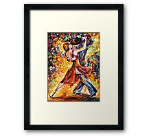 IN THE RHYTHM OF TANGO - Leonid Afremov Framed Print