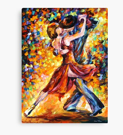 IN THE RHYTHM OF TANGO - Leonid Afremov Canvas Print