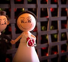 Bride and groom dolls by GemaIbarra