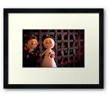 Bride and groom dolls Framed Print