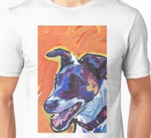 Smooth Fox Terrier Bright colorful pop dog art Unisex T-Shirt