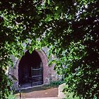 Entrance Church St Nicholas Grosmont Wales 198405180008 by Fred Mitchell