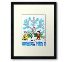 Snowball Fight Disney style Framed Print