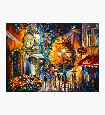 CAFE IN THE OLD CITY - Leonid Afremov Photographic Print