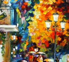 CAFE IN THE OLD CITY - Leonid Afremov Sticker