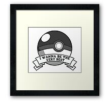 Pokemon Trainer Framed Print