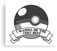 Pokemon Trainer Canvas Print