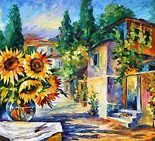 GREEK NOON - Leonid Afremov by Leonid Afremov