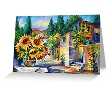 GREEK NOON - Leonid Afremov Greeting Card