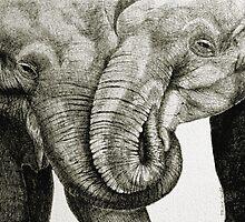 Loving Elephants by peggyguichu
