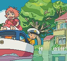 8bit Ponyo by ZoeTwoDots