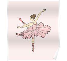Cute Pink Princess Dance Ballerina Poster