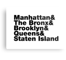 Five Boroughs Metal Print